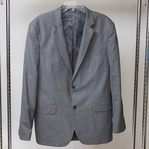 Mens Express Two Button Blazer Suit Jacket Grey 42